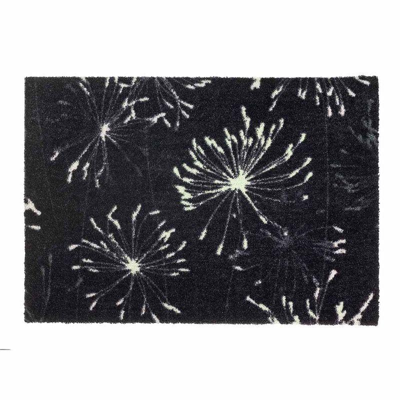 Schöner Wohnen Fussmatte Manhattan Pusteblume anthrazit-mint044 | 50x70 cm