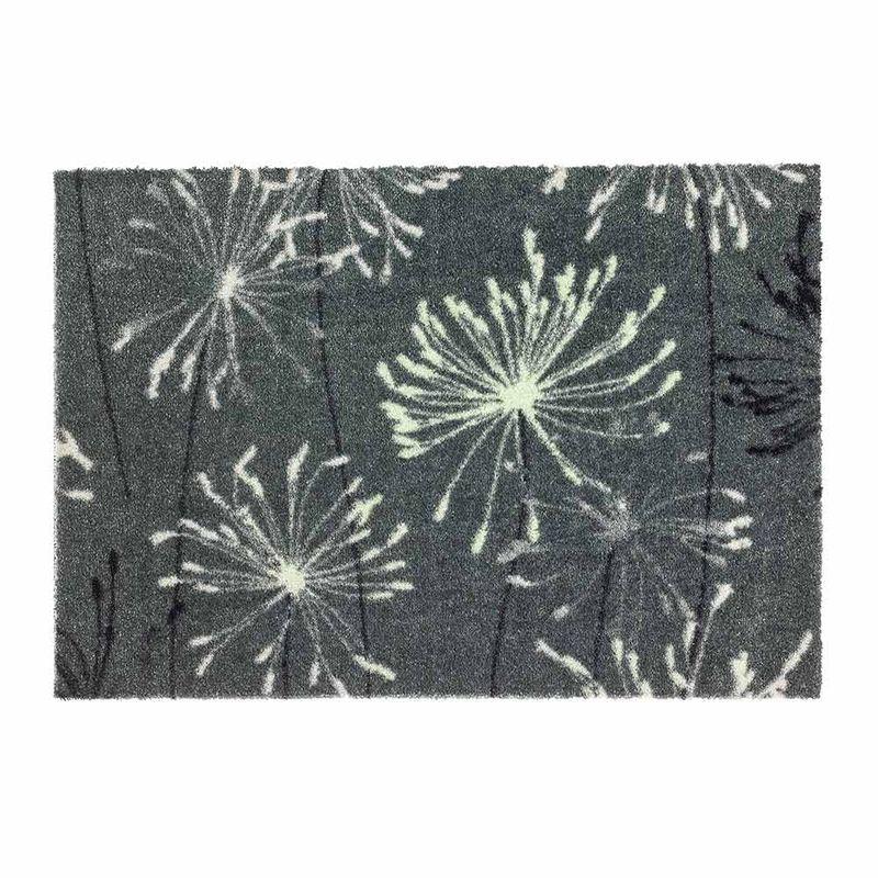 Schöner Wohnen Fussmatte Manhattan Pusteblume grau-mint040 | 50x70 cm