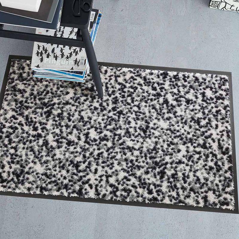 Fussmatte Schöner Wohnen Fussmatte Miami Mezzopoint silber Designbeispiel