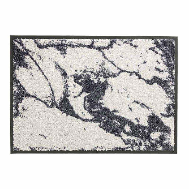 Schöner Wohnen Fussmatte Miami Marmor silber 004 | 67x100 cm