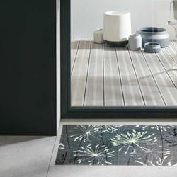 Fussmatte Schöner Wohnen Manhattan Pusteblume grau-mint040 Designbeispiel