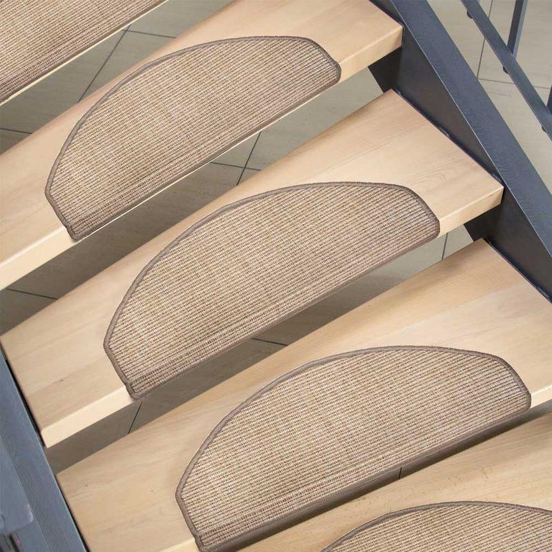 Stufenmatte in Sisaloptik halbrund Natur  Bild 5