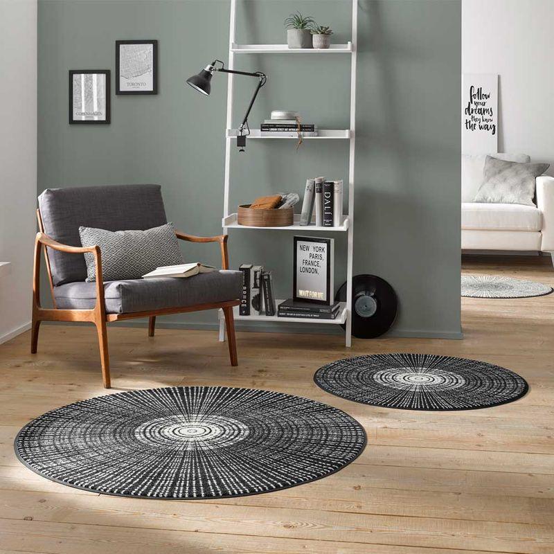 Fussmatte wash+dry Design Cascara black 115 cm rund