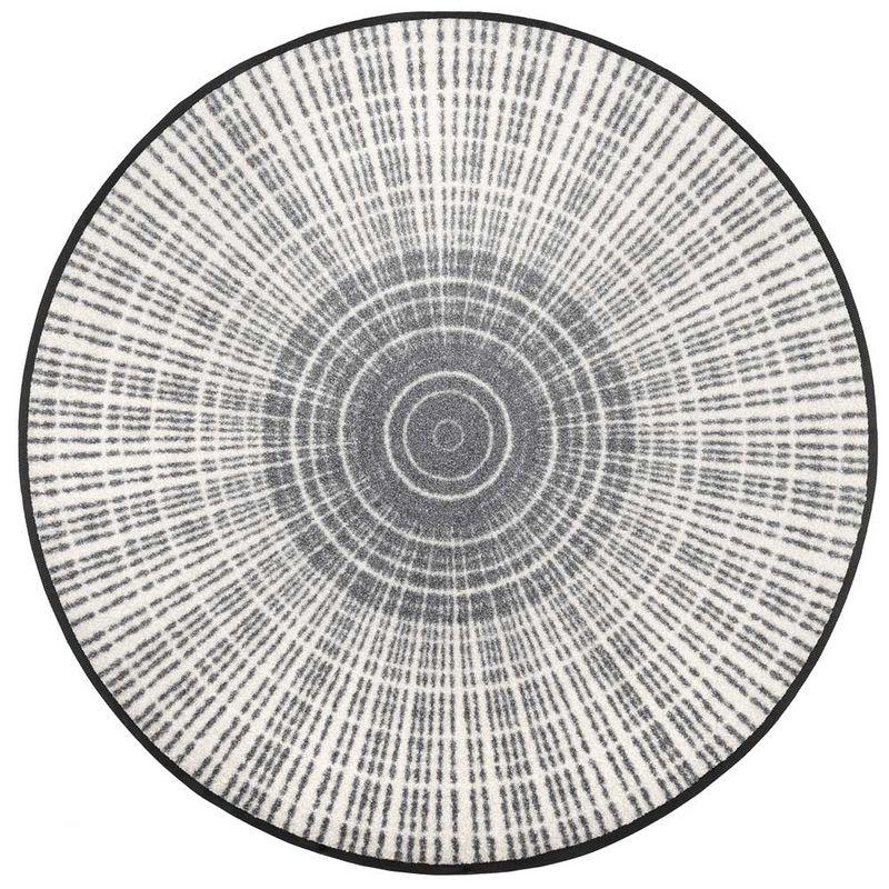 Fussmatte wash+dry Design Cascara grey 85 cm rund