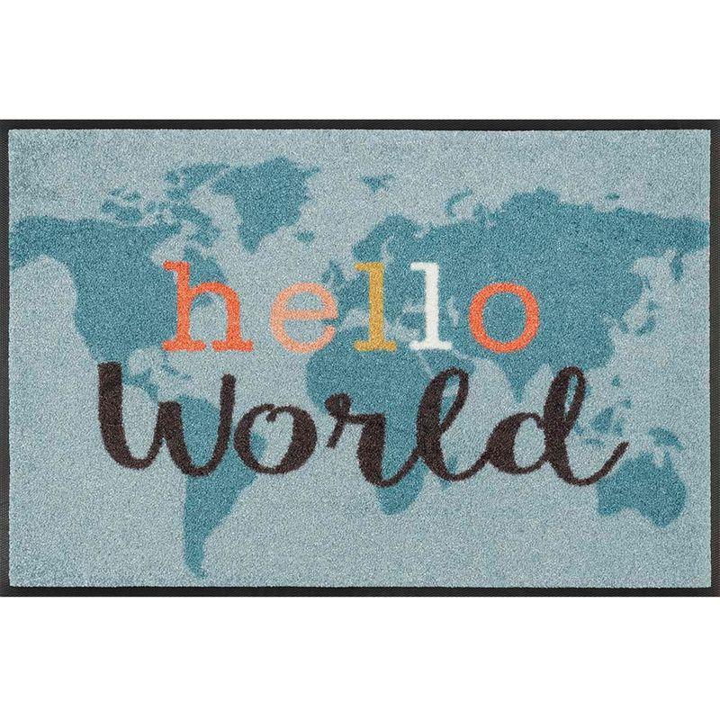 Fussmatte wash and dry Design Hello World 50x75 cm