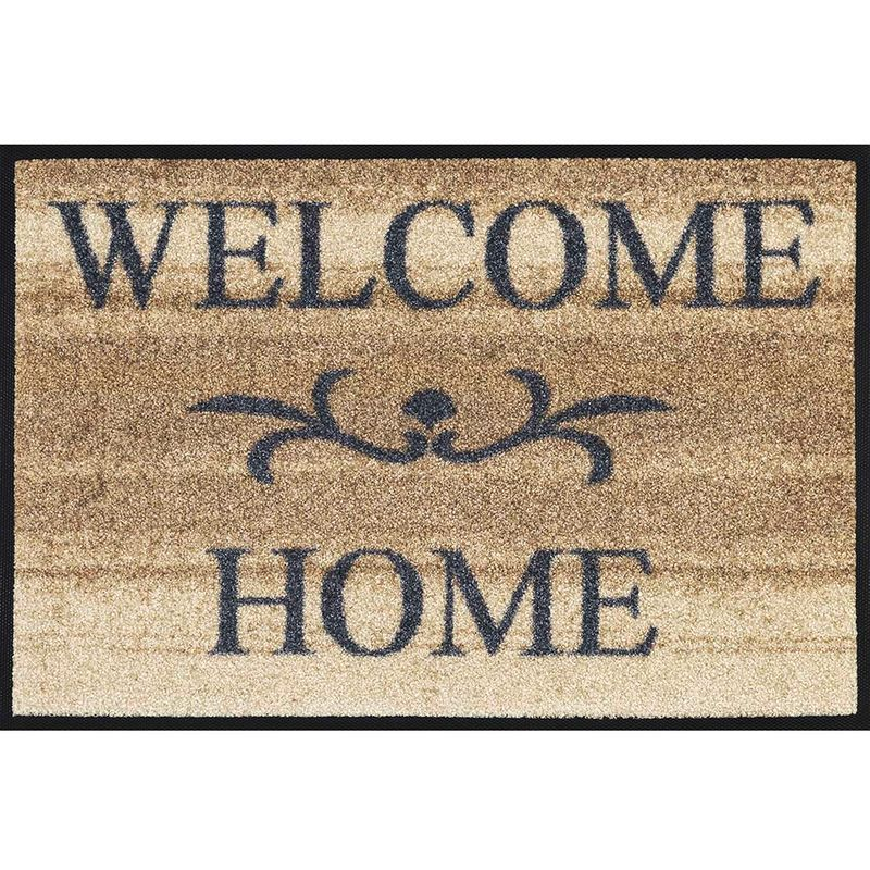 Fussmatte wash and dry Design Welcome Home beige 40x60 cm