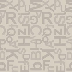 Reststück PVC Tarkett Design 260 Alphabet Grey | 2,00x2,00 m