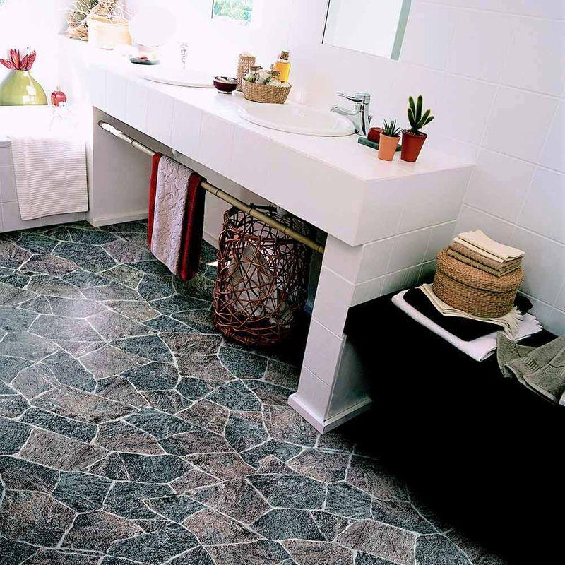 Reststück PVC Gerflor Quatro Granit Grau 0617 | 2,80x2,00 m