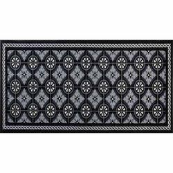 Fussmatte wash+dry Design Kitchen Tiles black 75x190 cm
