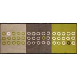 Fussmatte Salonlöwe Geometric Dots green 75x190 cm