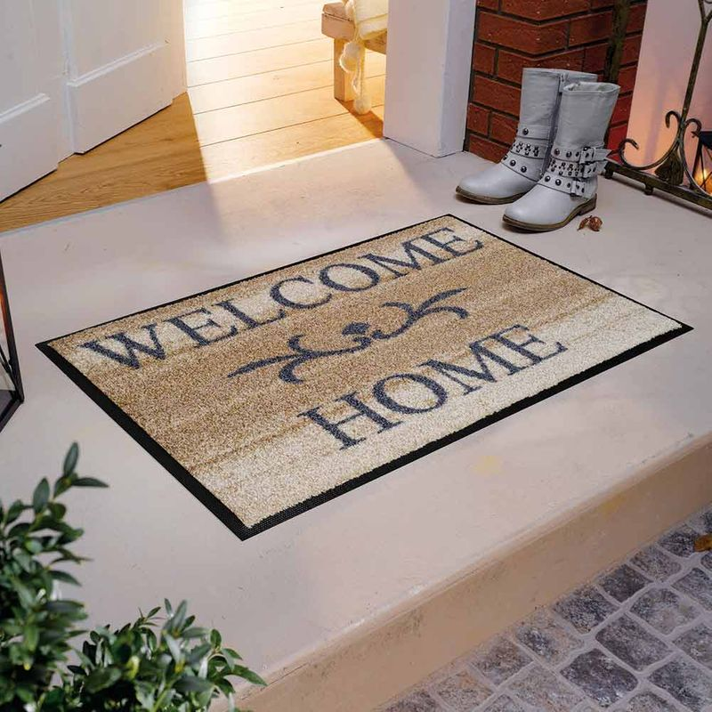 Fußmatte wash and dry Welcome Home Beige Designbeispiel