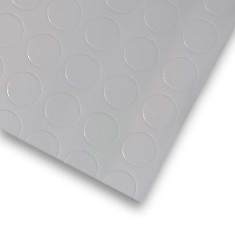 pvc bodenbelag tarkett retro noppe grau 2m bodenbel ge pvc belag 2 00 m rollenbreite. Black Bedroom Furniture Sets. Home Design Ideas