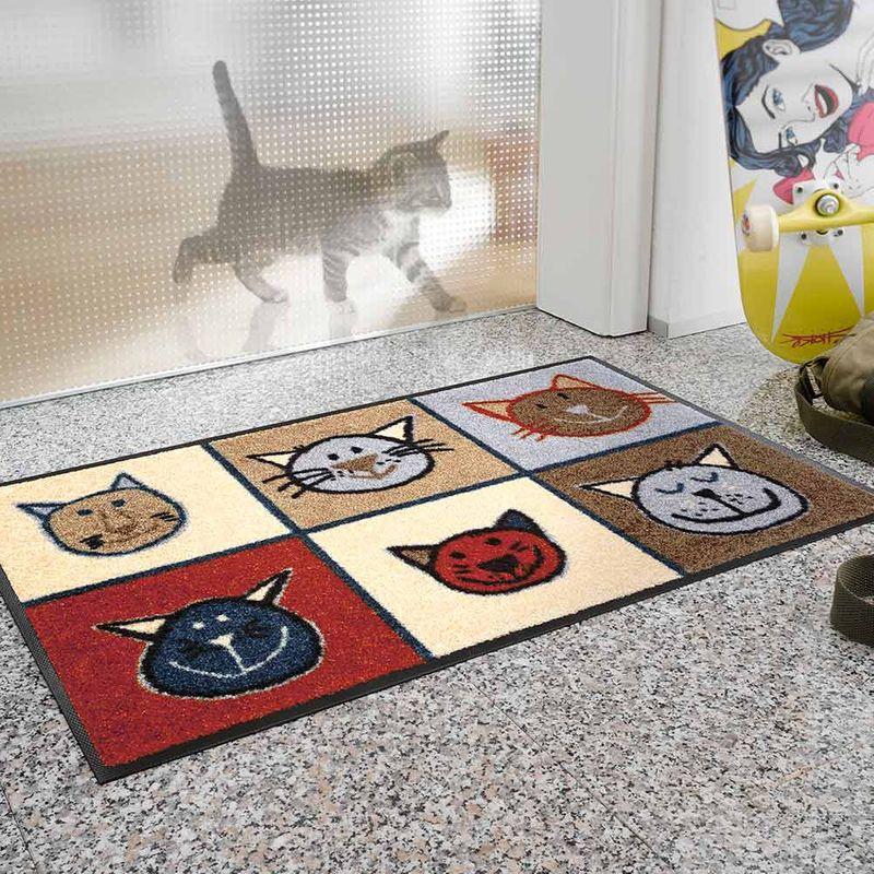 Fußmatte wash+dry Miau Miau 50x75 cm Designbeispiel