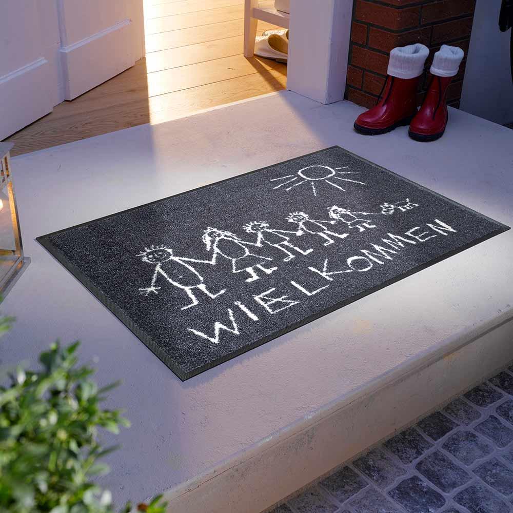 fu matte wash dry wielkommen 50x75 cm fu matten. Black Bedroom Furniture Sets. Home Design Ideas