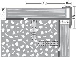 Prinz Alumininum Treppenkantenprofil 8-9 mm # 270 Bild 4