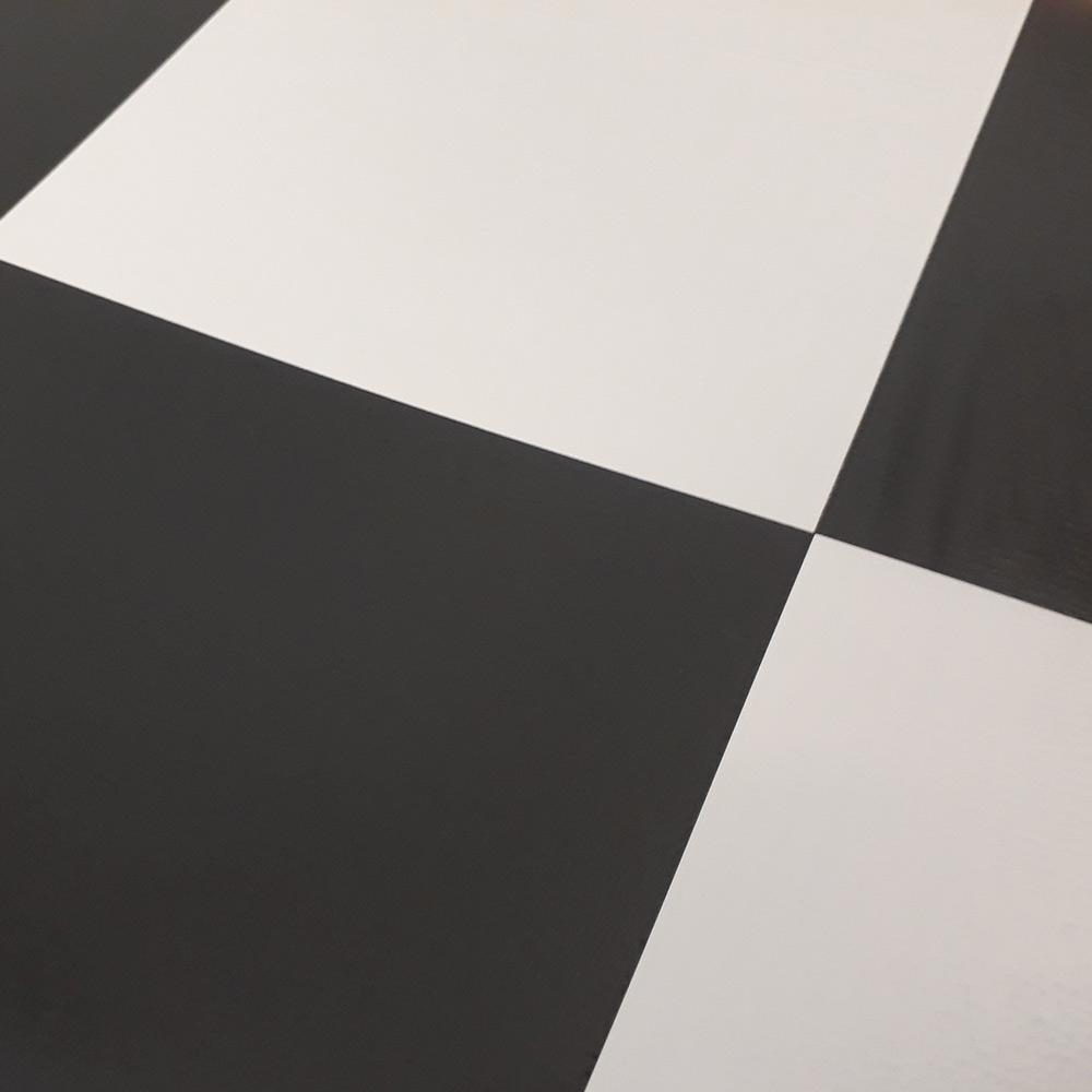 pvc boden tarkett comet schachbrett schwarz weiss 2m bodenbel ge pvc belag 2 00 m rollenbreite. Black Bedroom Furniture Sets. Home Design Ideas