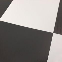 PVC Boden Tarkett Comet Schachbrett schwarz-weiss 2m Bild 4