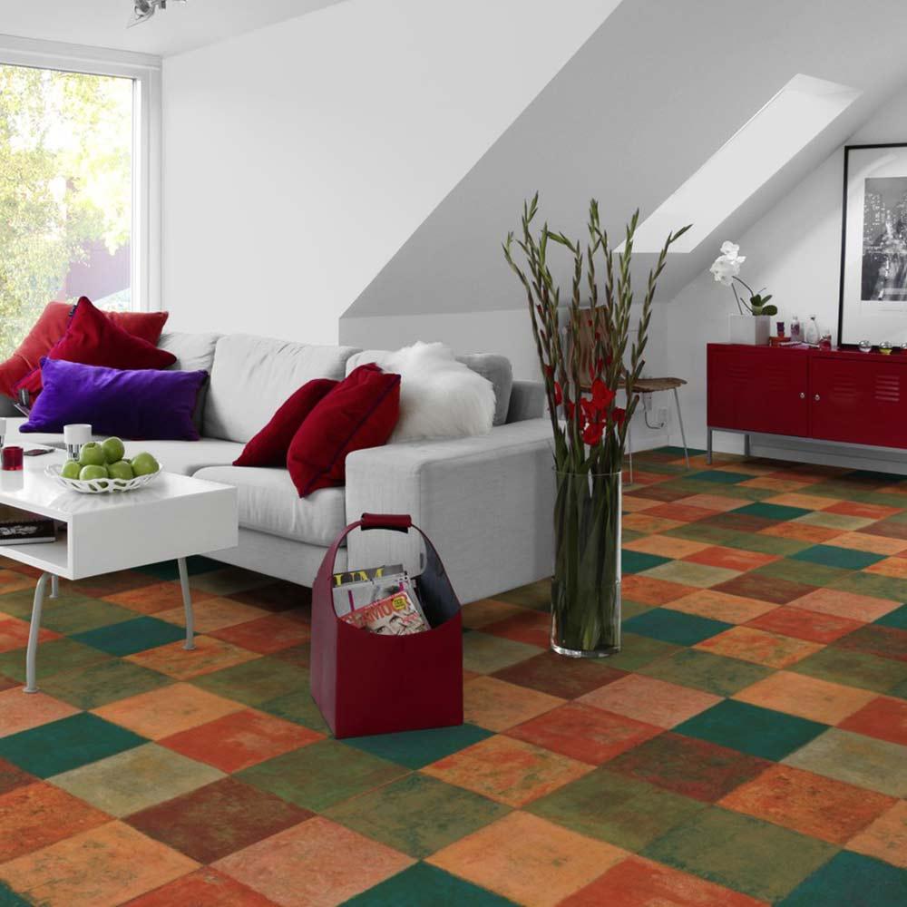 Pvc bodenbelag tarkett design 260 latina dunkel 4m for Wohnlandschaft 4m breit