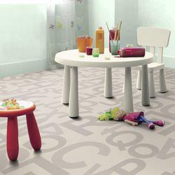 PVC Bodenbelag Tarkett Design 260 Alphabet Grey 3m Bild 1