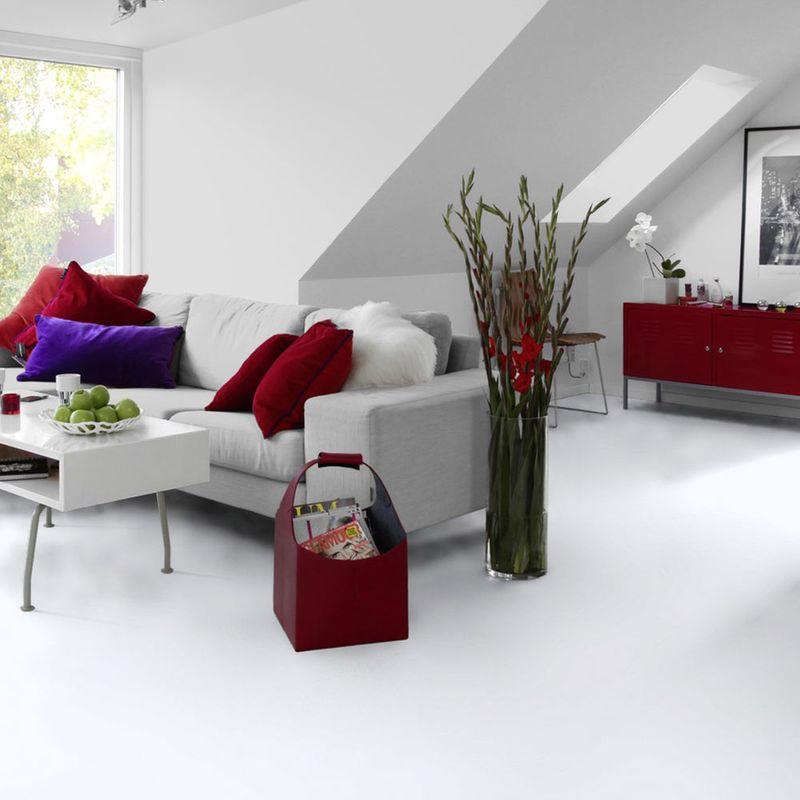 PVC Bodenbelag Tarkett Design 260 Dj White 3m Bild 5