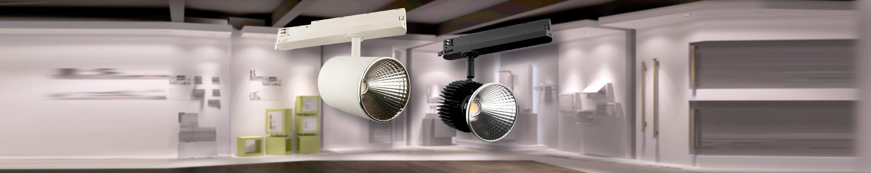Stromschienenstrahler mit 3-Phasenadapter