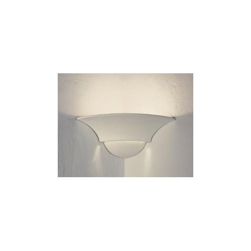 SYLT GIPS WANDLEUCHTE für DIE ECKE max. 12W LED E27  GIPSLAMPE Bild 3