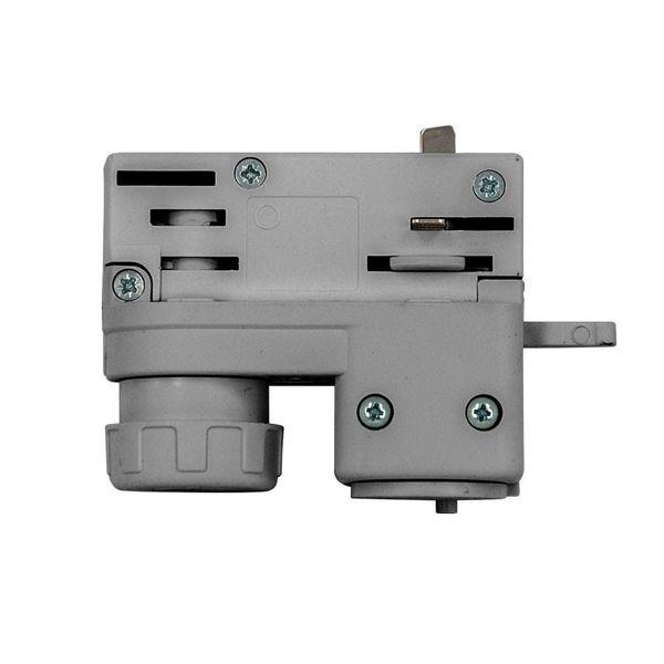 3-Phasen Stromschienenadapter grau Euroadapter für Phasen-Schienensystem