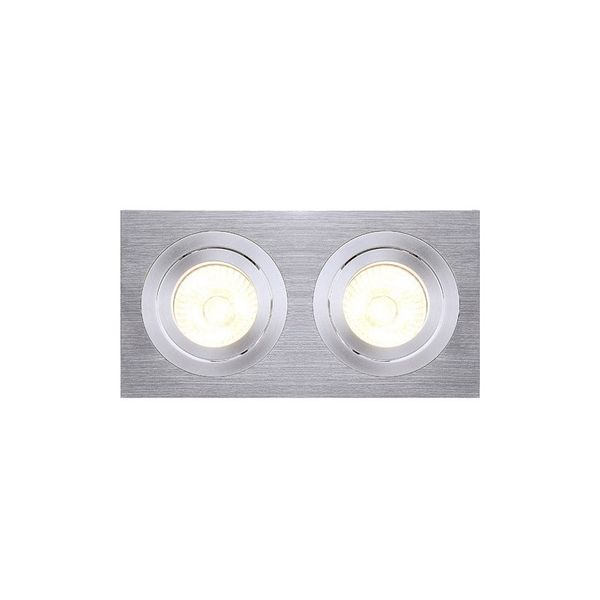SLV NEW TRIA II MR16 Downlight, rechteckig, alu brushed