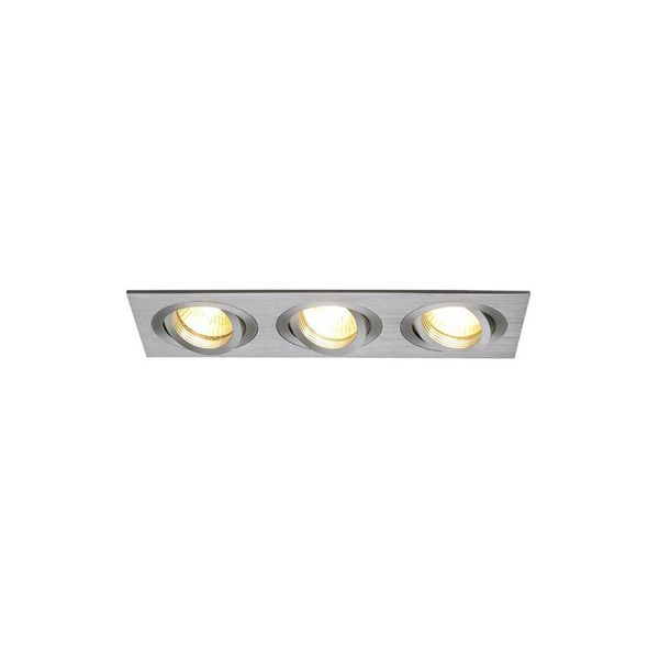 SLV NEW TRIA III MR16 Downlight, rechteckig, alu brushed