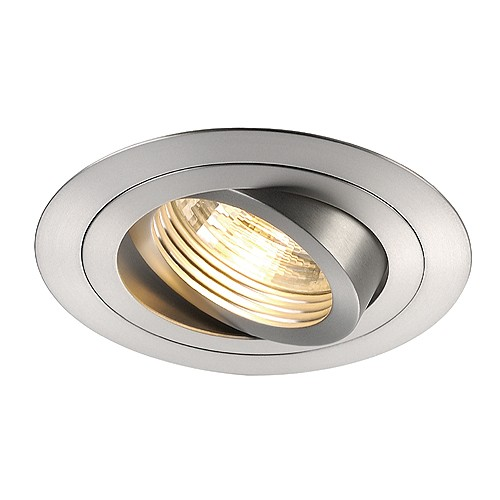 SLV NEW TRIA, GU10 Downlight, rund, alu brushed