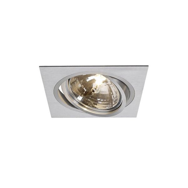 SLV NEW TRIA I QRB Downlight, eckig, alu brushed