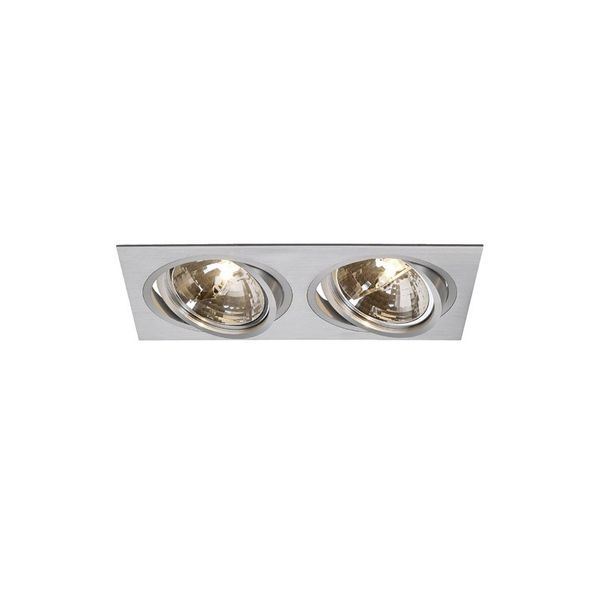 SLV NEW TRIA II QRB Downlight, rechteckig, alu brushed