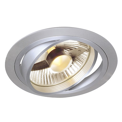 SLV NEW TRIA, ES111 Downlight, rund, alu brushed