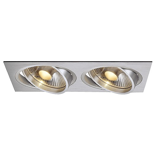 SLV NEW TRIA II ES111 Downlight, rechteckig, alu brushed