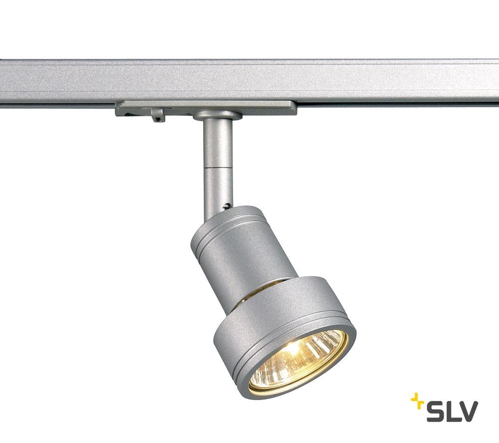 SLV PURI Leuchtenkopf, silbergrau GU10, max. 50W, inkl. 1P.-Adapter