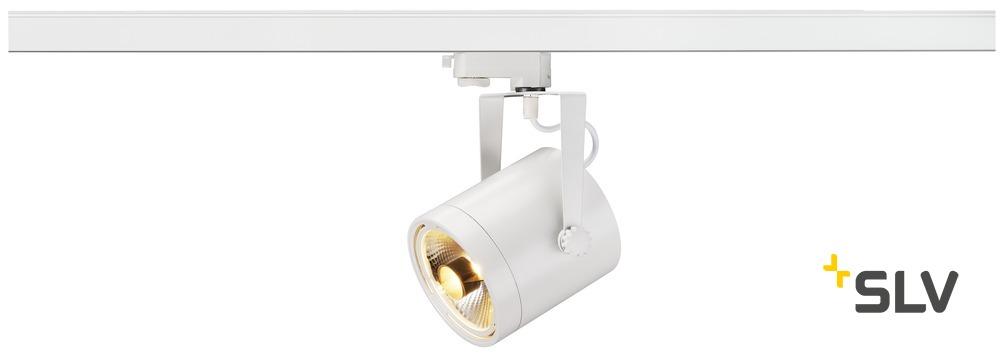 SLV EURO SPOT ES111, Strahler, rund, weiss, GU10, max. 75W, inkl. 3P.-Adapter