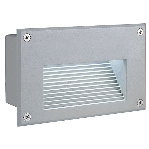 SLV BRICK LED Downunder, silbergrau, weisse LED