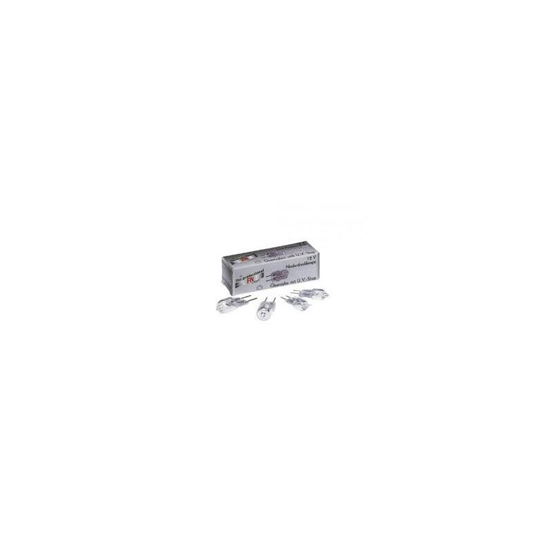 SLV FN-LIGHT Niederdruck Stiftsockellampe, 12V, 50W, G6.35, Quarzglas mit UV-Stop