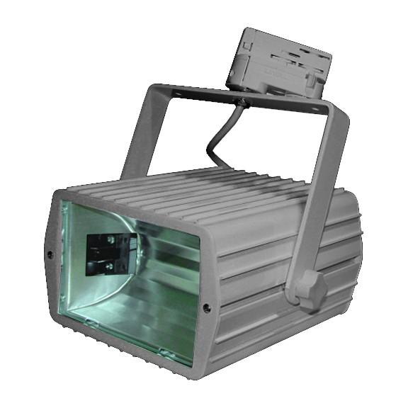 CLE CDM Stromschienenleuchte Floodlight HQI-TS 70W alu grau
