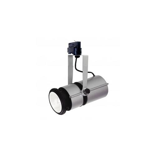 CLE Stromschienenleuchte OPAL 70W 10°  silbergrau / schwarz