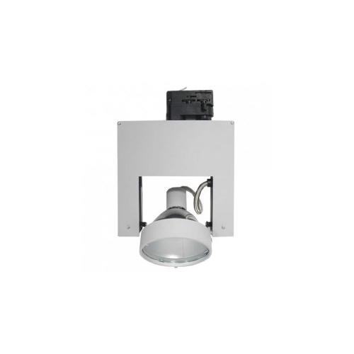 CLE Stromschienenleuchte Pivo CDM-TC 35/700W 12°  alu grau
