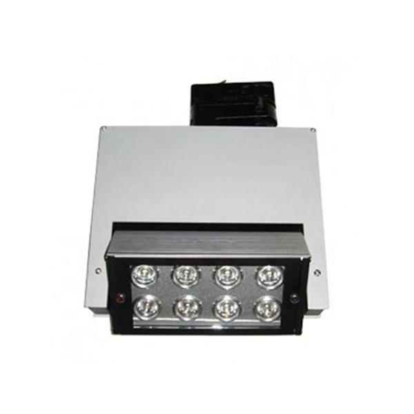 CLE Stromschienenleuchte Pivo LED 8 x 1W alu grau