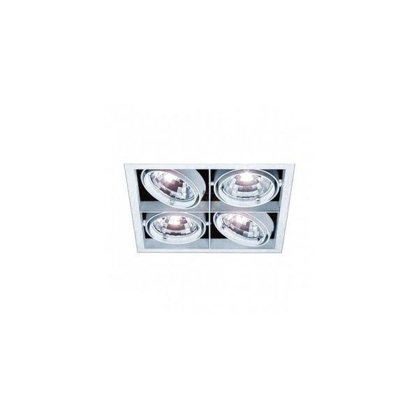 CLE Kardan Einbauleuchte YK4-QR111 4 x 50W alu grau