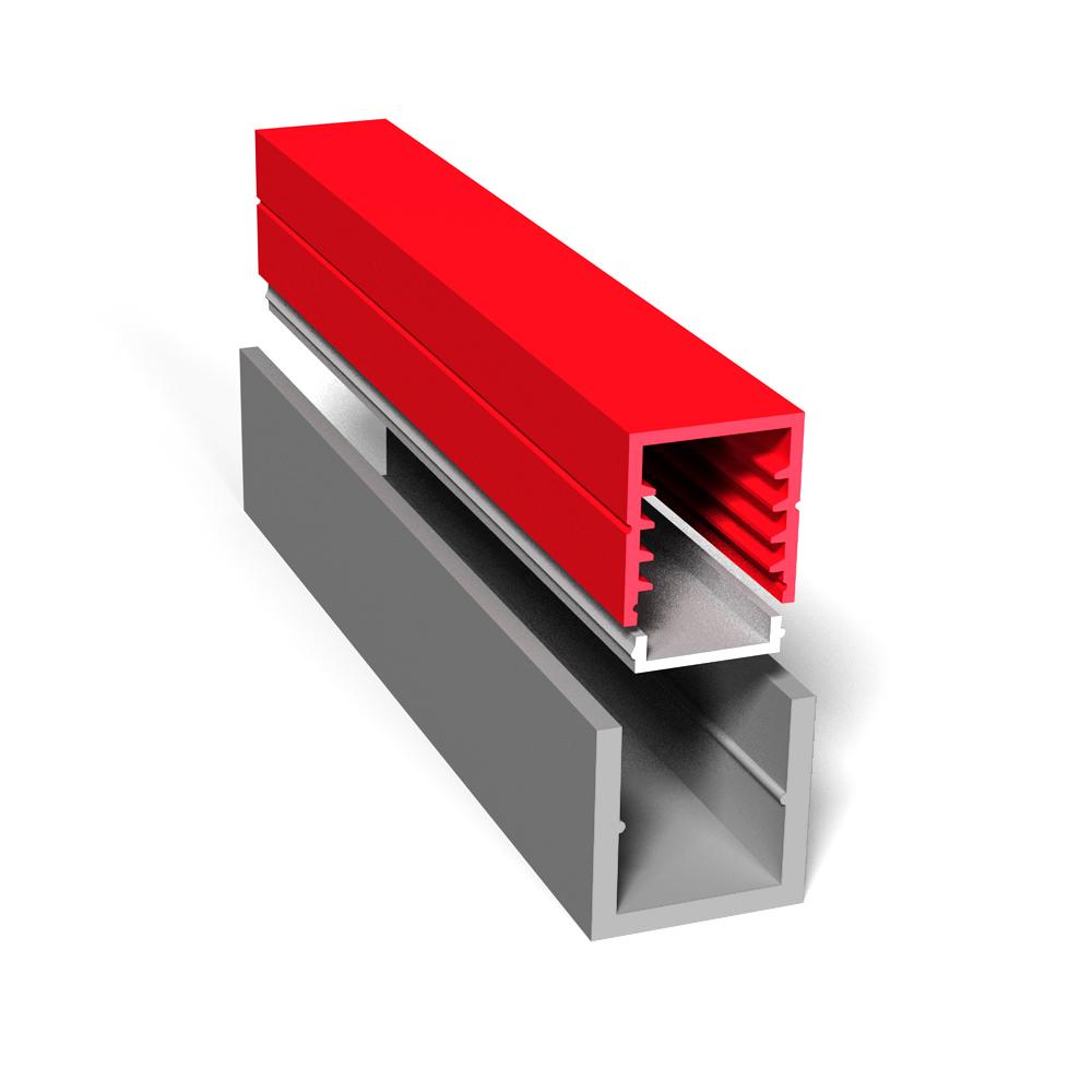 LED Montageprofil U-Profil alu 3,0 Meter