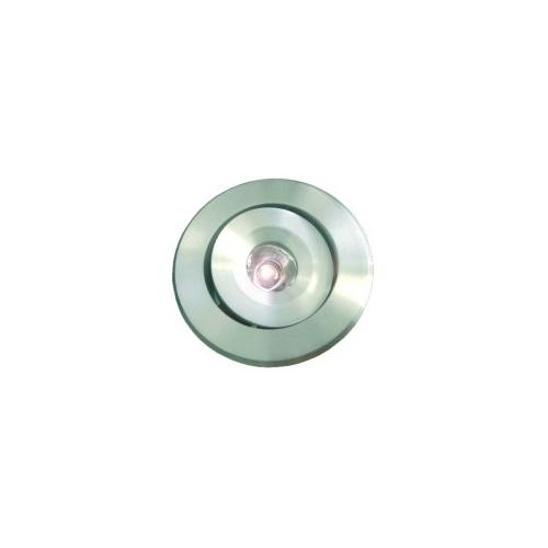 CLE LED Einbauleuchte ALUTEC 1W alu / LED weiss