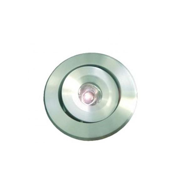 CLE LED Sternenhimmel Einbauleuchte ALUTEC 1W alu / LED warmweiss