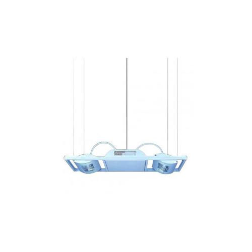 CLE Hängeleuchte YK Duo HQI-TS  2 x 150W alu grau