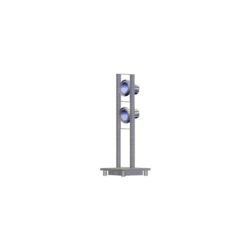 CLE Stehleuchte Tower CDM-T 2x 35/70 /150W  alu grau