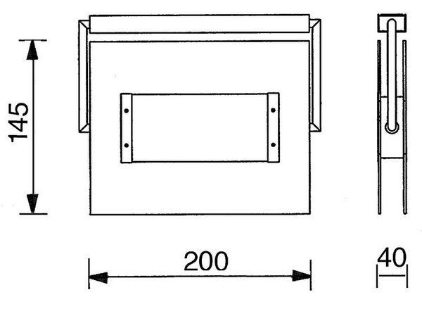 Gaga Lamp Design Halogen / LED Wand- und Deckenleuchte Glasbaustein Midi max. 100W alu grau Bild 4
