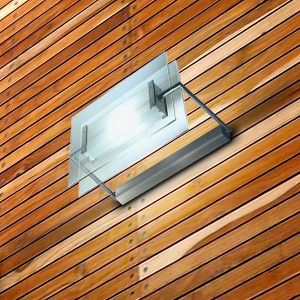 Gaga Lamp Design Halogen / LED Wand- und Deckenleuchte Glasbaustein Midi max. 100W alu grau